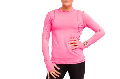 running shirt pink