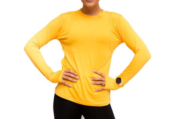 running shirt yellow