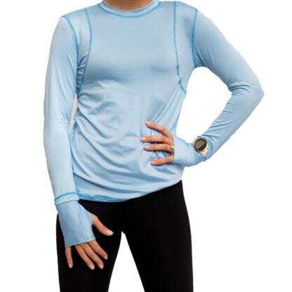running shirt blue