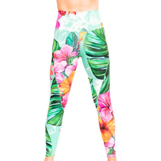 blooming in hibiscus tights